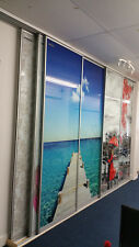Sliding doors for built in wardrobes with beautiful graphics