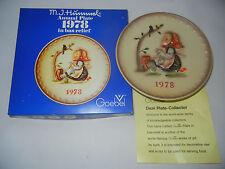 GOEBEL piatto dell' ANNO 1978 - con scatola originale (MIO art. no. 1978-6)