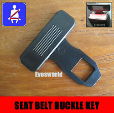 SEAT BELT ALARM BUCKLE KEY SAFETY STOP CLIP CLASP PEUGEOT 407 SALOON