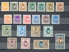 EGYPT- 1927 - 1937 Postage King Fouad SC#128 - 149 complete set MH