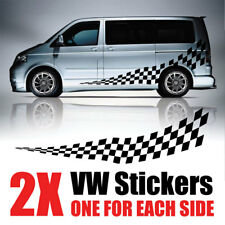 VW Transporter gráficos Rayas Camper Camioneta Calcomanías Pegatinas T4 T5 rv44 Caddy