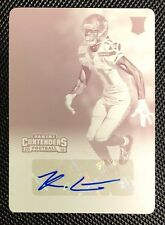 2016 Panini Contenders Auto 1/1 Kenny Lawler Rookie RC Printing Plate Seahawks