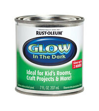 Rust-Oleum  Interior  Latex  Glow-in-Dark Paint  Luminous  Flat  7 oz.