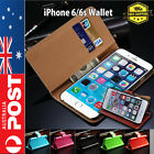 Leather Flip Wallet Case Cover For Apple iPhone 6 & 6s