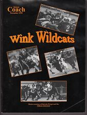 1998 Texas Coach Magazine November Wink Wildcats 19252