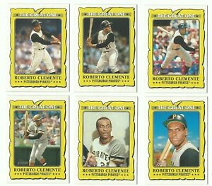 ROBERTO CLEMENTE 2021 TOPPS HERITAGE GREAT ONE 6-CARD LOT!!!!!!