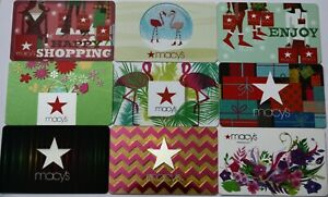 9 Macy`s Department Store Flamingo Flowers Empty Gift Card Collectible Lot New