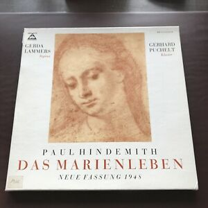 HINDEMITH- Das MARIENLEBEN 2 LP BOX LAMMERS/ PUCHELT B707