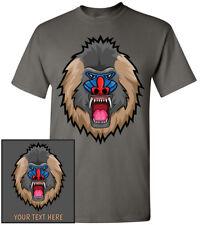 Mandrill Monkey Head T-Shirt, Men Women Youth Kids Tank Long Personalized Tee