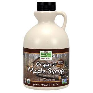 Now Foods Maple Syrup Grade A Dark (Prev Grade B) 32 oz FREE SHIPPING