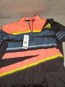 NEW Adidas Adistar Cycling Ciclismo Jersey Form Fitted Solar Red $160 Men's XL