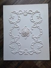 "Cp68 Soffitto Pannello 14 1/4 ""x 11 3/4"" GESSO replicast Miniatures DOLLS HOUSE"