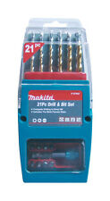 Makita P-57087 21pc Drill and Driver Bits Set in Butterfly Case
