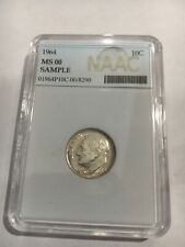 NAAC Sample Slab 1964 Silver Roosevelt Dime Sample Dime Coin Add To Collection