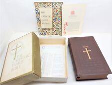 Vtg 1953 Catholic Family Edition The Holy Bible Embossed Original Box Free S/H