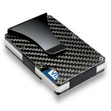 Slim Credit Card Holder RFID Blocking Metal Wallet Purse Carbon Fiber Money Clip