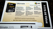 NEW! AVG Ultimate 2015 Unlimited Devices / 1 Year - Free upgrade to 2017