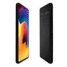 Skinomi Black Carbon Fiber Skin Clear Screen Protector for LG V40 ThinQ