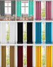 13 Colours** EYELET PAIR OF LINEN Curtains & Tiebacks Ready Made**Sale UK SELLER