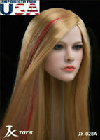 "1/6 Female Head Sculpt Avril Lavigne For 12"" Hot Toys PHICEN TBLeague Figure USA"