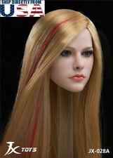 """1/6 Female Head Sculpt Avril Lavigne For 12"""" Hot Toys PHICEN TBLeague Figure USA"""