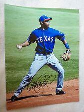 Texas Rangers Elvis Andrus Signed 11x14  Photo Auto