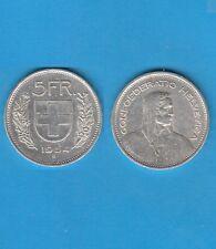 § Suisse Swiss Confédération Helvétique 5 Francs en argent 1954  Exemplaire N° 2