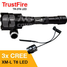 TrustFire 3800Lm CREE XML T6 LED Flashlight Torch Remote Pressure Switch 1 Mode