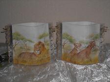 Tischlicht/Windlicht Löwen/Löwenfamilie - Afrika
