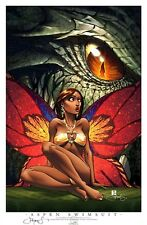 ASPEN SOULFIRE SWIMSUIT PRINT DRAGON CON 2011 SIGNED BY
