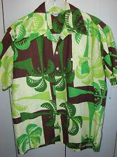 97975038 Lauhala Large Palms over Squares/60s Barkcloth/Mint