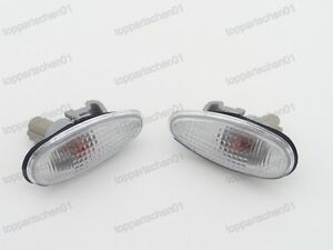 L+R Side Marker Lights Signal Lamps Pair For Mitsubishi Outlander 2003-2006