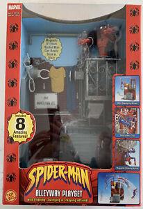 Marvel Spider-Man Alleyway Playset Toy Biz, Factory Sealed, Clean!!(B200)