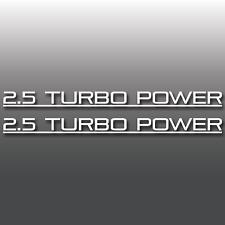 2x 2.5L Turbo Power Subaru WRX Window Bumper Vinyl Decal Sticker JDM DUB Euro