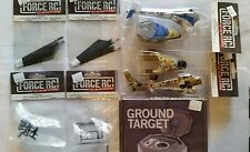 FORCE R/C HELICOPTER PARTS & GROUND TARGET, BLADES,BODIES,SKID & MOUNT,FRAME NEW