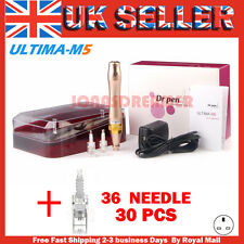 Auto Electric Ultima M5 Dr.Pen Micro Needle Stamp Derma Pen+36pin Cartridges*32