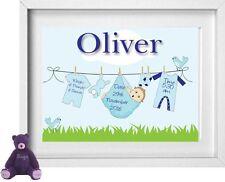 Baby Boys nome | personalizzato foto | Nuovo bambino regalo | | GRATIS | (np151)