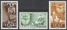Colonias españolas Ifni 1956 Día del Sello escudo de armas estampillada sin montar o nunca montada Fina Shield 132 - 134