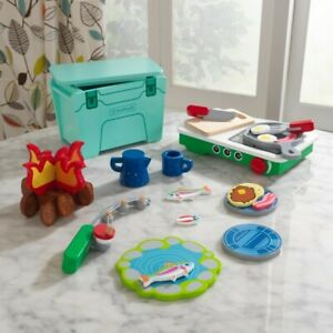 Kidkraft Let's Pretend Camping Cookout   Play Set With Accessories Fire Food