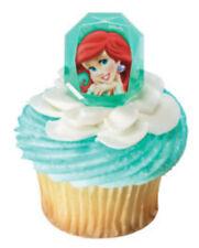 Disney Princess Ariel cupcake rings (24) party favor cake topper 2 dozen