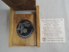 1985 40th Anniversary of Victory Over Nazi Germany Silver State Medal +box +COA