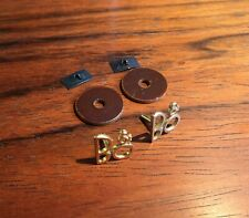 Bang & Olufsen Parts-Pair of Golden Logos Badges F. 1960s speakers BEOVOX 5000