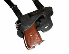 Makarov, Beretta84, Walther PPK, FEG PA63, shoulder leather gun holster