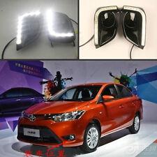 2pcs x Car DRL LED Daytime Running Lights Lamp For TOYOTA VIOS 2013 ~ 2016