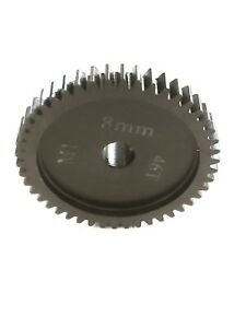 46T 8MM MOD-1 SAGA PINION GEAR *HARDENED STEEL* xlx/xl2/hobao/arrma/serpent/losi