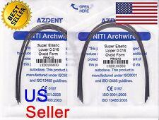 Azdent Orthodontic NiTi Superelastic Arch Wire Round 016 Upper / Lower (20pcs)