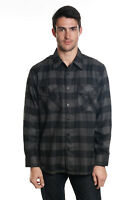 YAGO Men's Casual Plaid Flannel Long Sleeve Button Up Shirt Black/A3B (S-5XL)