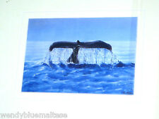 Whale of a Tail by Pam Barbour Mounted Print From Original Painting 28.5x23.5cm