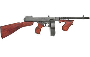 Replica THOMPSON tommy gun Military S.M.G. SUB-MACHINE GUN DENIX NON-FIRING 1928