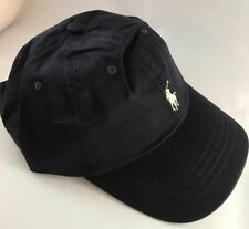 BNWT Adults One Size Ralph Lauren Cap Hat Polo Navy With Pony RRP £35 Unisex